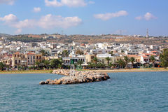 Vista de Rethymno, Crete fotografia de stock royalty free