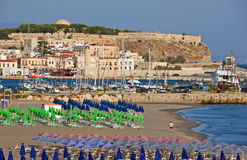 Vista de Rethymnon Imagem de Stock Royalty Free