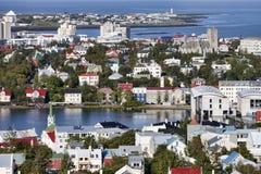 Vista de Reykjavik, Islandia Fotos de archivo