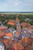 Vista de Ribe, Dinamarca Foto de archivo