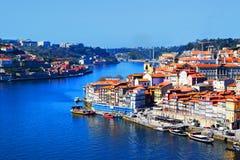 Vista de Ribeira en Oporto fotografía de archivo