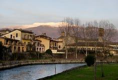 Vista de Rieti Itália imagem de stock
