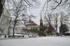 Vista de Riga fotografia de stock