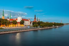 Vista de Riga, Letonia Fotografía de archivo libre de regalías