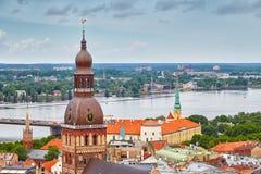 Vista de Riga Letonia Foto de archivo libre de regalías