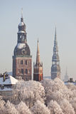 Vista de Riga vieja, Letonia Foto de archivo libre de regalías
