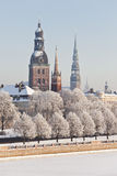 Vista de Riga vieja, Letonia Foto de archivo