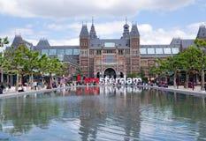 Vista de Rijksmuseum, Amsterdão Imagem de Stock Royalty Free