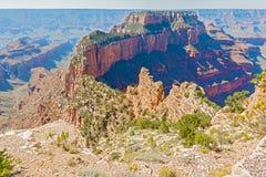 Vista de Rim Of The Grand Canyon norte Fotos de Stock Royalty Free