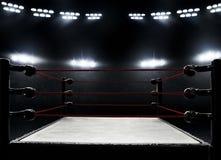 Vista de ringes de boxeo profesionales fotografía de archivo