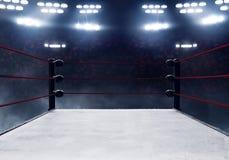 Vista de ringes de boxeo profesionales fotografía de archivo libre de regalías