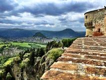 Vista de Rocca, San Leo, Itália Imagens de Stock