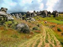 Vista de rochas do castelo, Nova Zelândia fotografia de stock royalty free