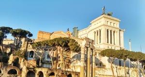 Vista de Roma antigua Imágenes de archivo libres de regalías