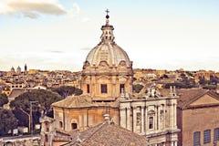 Vista de Roma de Palazzo Senatorio fotografía de archivo