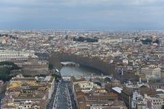 Vista de Roma desde arriba. Fotografía de archivo libre de regalías