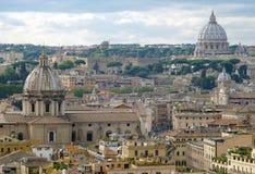 Vista de Roma e do Vaticano Imagem de Stock