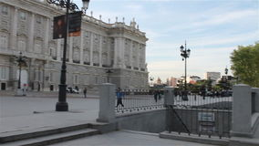 vista de Royal Palace no Madri video estoque