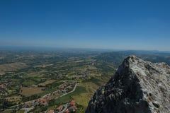 Vista de São Marino Imagens de Stock