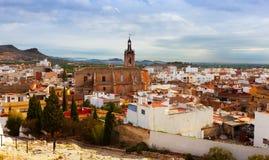 Vista de Sagunto no verão. A comunidade Valencian Fotografia de Stock Royalty Free