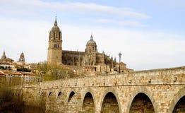 Vista de Salamanca imagenes de archivo