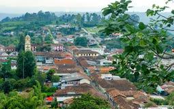 Vista de Salento, Colômbia Fotos de Stock