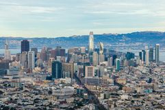 Vista de San Francisco do centro imagens de stock