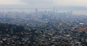 Vista de San Francisco em um dia nevoento 4K filme