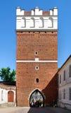 A vista de Sandomierz, Poland. Imagens de Stock Royalty Free