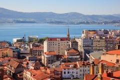 Vista de Santander, España fotografía de archivo