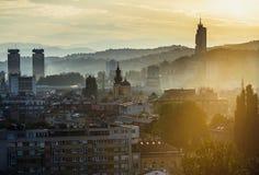 Vista de Sarajevo Fotografía de archivo