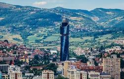 Vista de Sarajevo Foto de archivo libre de regalías
