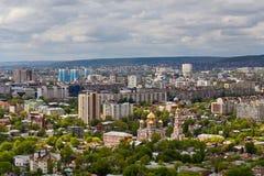 Vista de Saratov de una plataforma de observación Imagenes de archivo