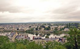 Vista de Saumur imagen de archivo libre de regalías