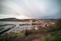 Vista de Scarborough del lado de la colina fotos de archivo
