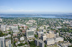 Vista de Seattle que mira del este Foto de archivo libre de regalías