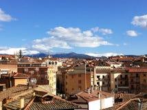 Vista de Segovia Imagen de archivo