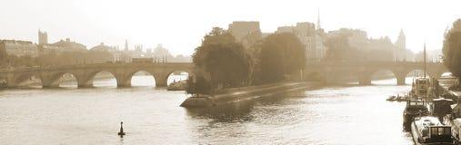 Vista de Seine River em Paris, França Imagem de Stock Royalty Free