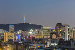 Vista de Seoul Coreia do Sul Imagem de Stock Royalty Free