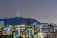 Vista de Seoul Coreia do Sul fotos de stock