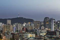 Vista de Seoul Coreia do Sul imagens de stock royalty free
