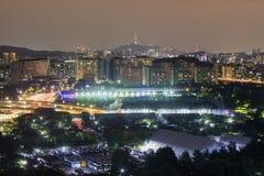 Vista de Seoul, Coreia do Sul fotografia de stock royalty free