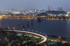 Vista de Seoul, Coreia do Sul imagens de stock