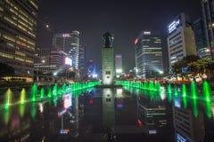 Vista de Seoul, Coreia do Sul imagem de stock royalty free