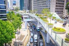 Vista de Seoullo 7017 que é a estrada pedestre o Fotografia de Stock
