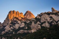 Vista de Serrat de les Barretines. Montserrat, España. Fotos de archivo libres de regalías