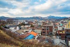 Vista de Seul del parque de Naksan Fotografía de archivo
