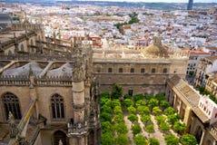 Vista de Sevilha da torre da catedral Foto de Stock