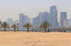 Vista de Sharja foto de archivo