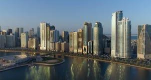 Vista de Sharjah cedo na manhã filme